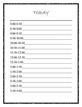 daily schedule sheets  communication log  educators