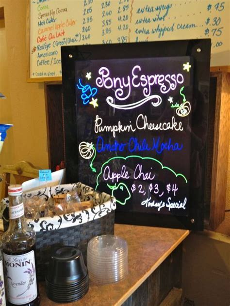 I'm a very enthusiastic and hard working individual. Pony Espresso, a locally owned coffee shop, is located in Fountain, on Santa Fe Ave.   Apple ...