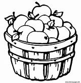 Coloring Apple Barrel Pages Printable Fruit Apples sketch template