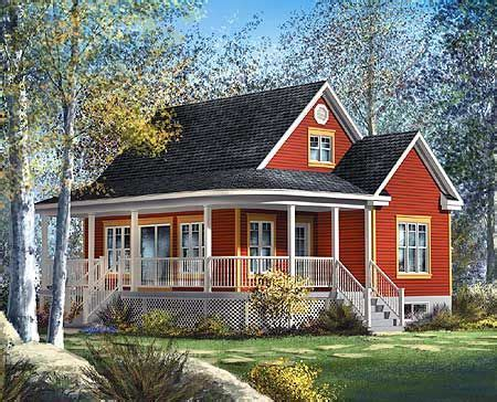Plan 80559PM: Cute Country Cottage Wraparound Front