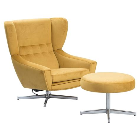 swivel chair with ottoman at 1stdibs