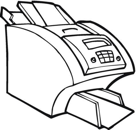 coloreando dibujos de impresoras  computadoras