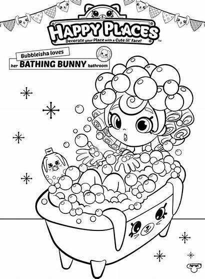 Shopkins Coloring Shoppies Pages Shopkin Bath Happy