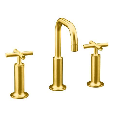 shop kohler purist vibrant modern brushed gold 1 handle