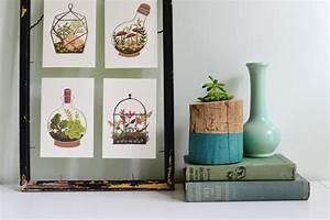 Diy tree trunk planter for House decoration ideas handmade