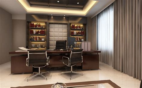 photoreal executive office 3d model cgtrader
