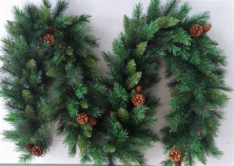 artificial ft  luxury christmas garland pine