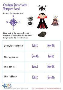 cardinal directions printable  printable  kids