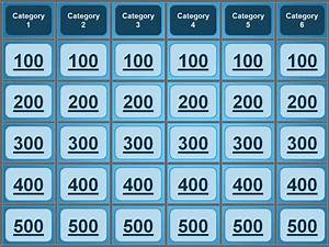 Jeopardy powerpoint template great for quiz bowl for Bible jeopardy powerpoint template
