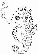Coloring Sea Horse Seahorse Seahorse2 sketch template