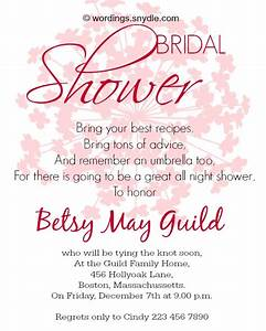 bridal shower invitation wordings wordings and messages With samples of wedding shower cards