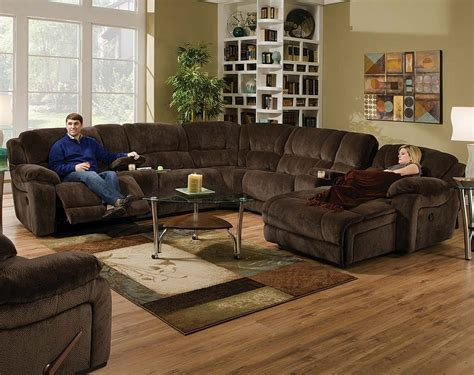 brown wrap  couch championship chocolate reclining