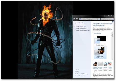 Ghost Themes Ghost Rider Windows Theme