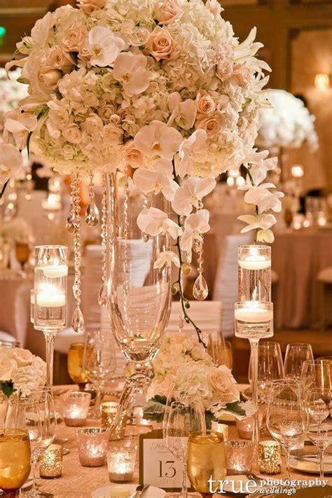 elaborate wedding flower inspiration wedding centerpiece