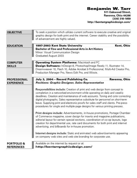 8 best photos of graphic design resume sle objectives