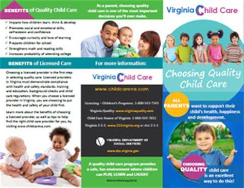 child care landing page design virginia department