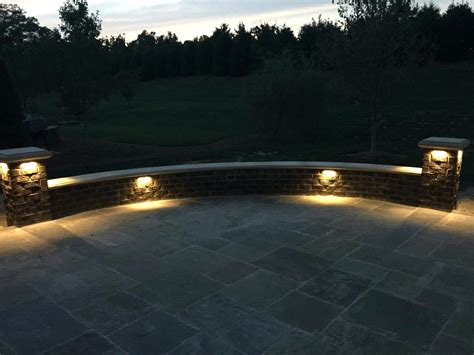 led retaining wall lights retaining wall lighting ideas kits stone led lights home