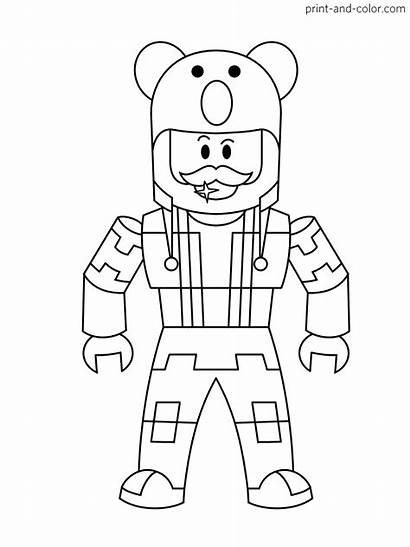 Roblox Coloring Pages Halloween Printable Characters Noob