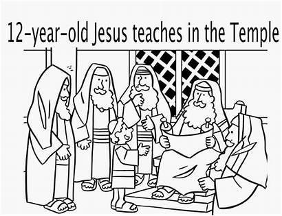 Jesus Coloring Pages Temple Sunday Boy Children