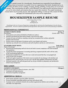 hospital housekeeping sample resume With free housekeeping resume