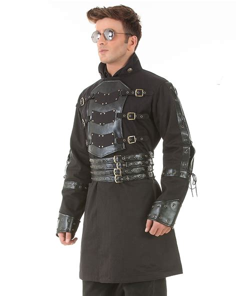 Van Helsing Steampunk Victorian Gothic Mens Costume Trench Coat C1358