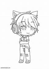 Gacha Coloring Pages Boy Boys sketch template