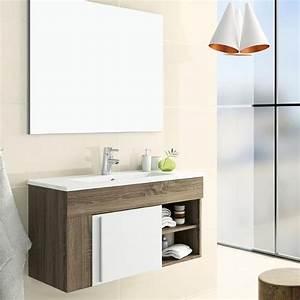 3 Suisses Meuble Salle De Bain : meuble salle de bain 80 cm avec miroir granada ~ Teatrodelosmanantiales.com Idées de Décoration