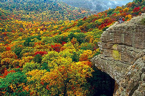 Ozark Mountain Fall Scenery