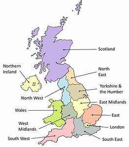 Map Of Nuts 1 Regions In The Uk 3