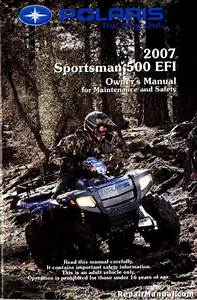 2007 Polaris Sportsman 500 Efi Atv Owners Manual
