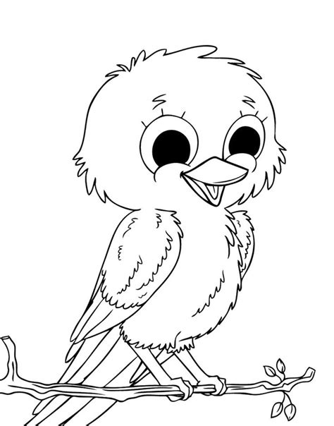 cute  birds coloring page kids coloring pages