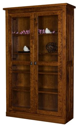 Mission Bookcase Glass Doors by Freemont Mission Bookcase With Length Glass Doors