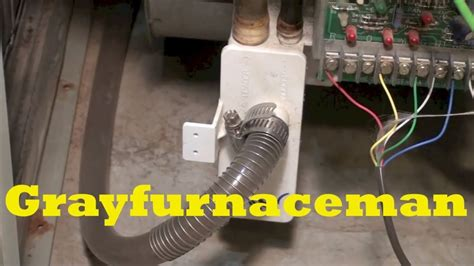 Furnace Condensate Drain Cleaning Youtube