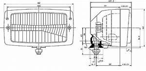 Hella 6213 Series External Headlamp Hl95393