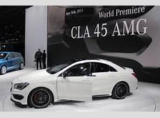 2014 MercedesBenz CLA45 AMG New York Auto Show Live Photos