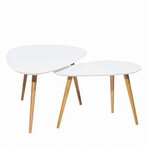 Table Basse Nordique : lot 2 tables basses droppy by drawer ~ Teatrodelosmanantiales.com Idées de Décoration