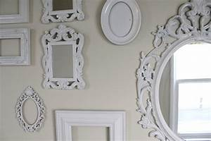 Cup Half Full: Gallery Wall of White Ornate Frames