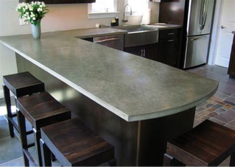 concrete countertops 39 minimalist concrete kitchen countertop ideas digsdigs Concrete Countertops