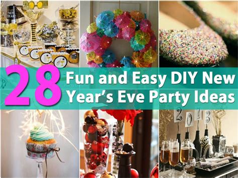 28 Fun And Easy Diy New Year's Eve Party Ideas