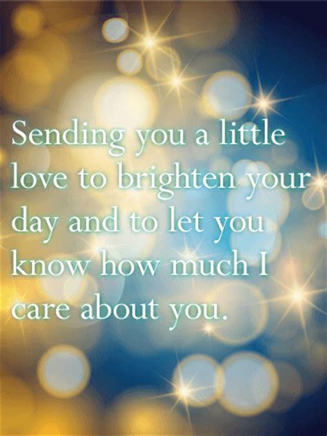 sending    love thinking   card