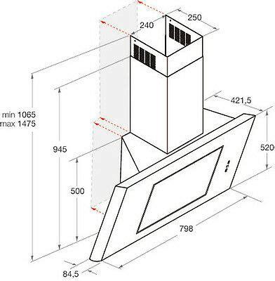 dunstabzugshaube 80 cm bauknecht dbhve85abx dunstabzugshaube 80 cm design wandhaube eek d eur 449 00 picclick de