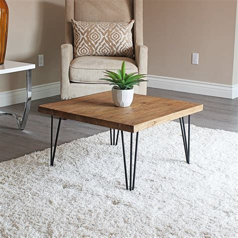 Modern farmhouse coffee tables might be difficult to tell apart from other styles, although it's really simple if we consider these two rules: Rustic Square Old Elm Wooden Coffee Table Unfinished | Coffee table square, Coffee table, Coffee ...