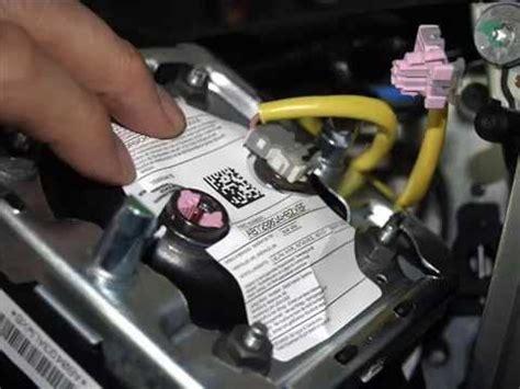 airbag deployment 2010 chevrolet silverado 3500 transmission control airbag steering wheel removal from silverado tahoe avalanche suburban youtube