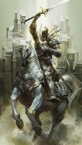 white knight by Hua Lu   Fantasy   2D   CGSociety ...