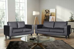 faux leather box sofa set couch black brown grey