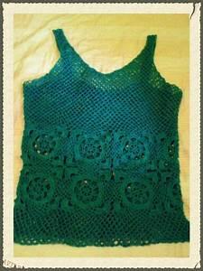 Blusa Turquesa Crochet