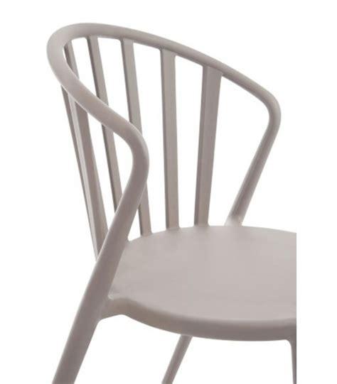 chaise de jardin design chaise de jardin design en polypropylène greige wadiga com