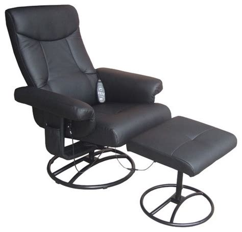 heated reclining chair with ottoman modern