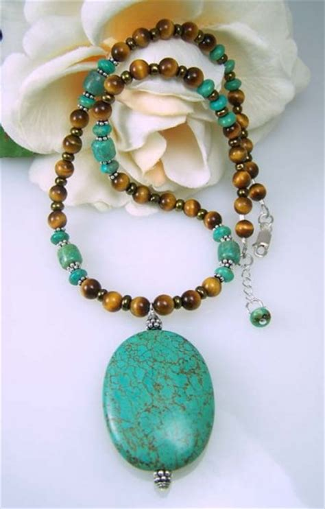Turquoise Tiger Eye Gemstone Necklace Beadage