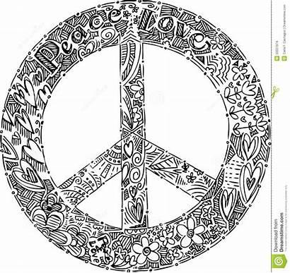 Simbolo Paix Symbole Blanc Peace Noir Nero
